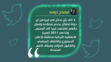 Photo of دومة: أي تدخل خارجي يخدم مصالحه و2011 كانت عبرة