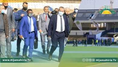 "Photo of وفد الاتحاد الأفريقي ""الكاف"" يتفقد ملعب طرابلس ثم يتجه لبنغازي"