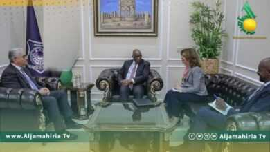 Photo of وزير داخلية السراج فتحي باشاغا يستعرض الاوضاع الامنية مع منسق البعثة الأممية في ليبيا الوضع الأمني في المنطقة الغربية