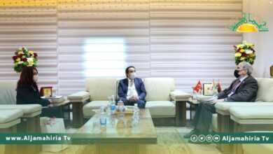 Photo of رئيس مؤسسة النفط يلتقي بالسفير التركي في ليبيا