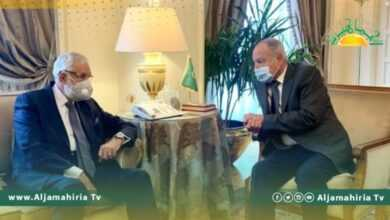 Photo of أبو الغيط يناقش مع سيالة تطورات العملية السياسية في ليبيا