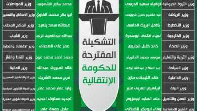 Photo of التشكيلة المقترحة للحكومة الإنتقالية
