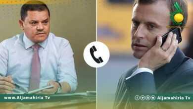 Photo of الدبيبة يتلقى اتصالًا من الرئيس الفرنسي أكدا خلاله على إجراء الانتخابات في ديسمبر المقبل