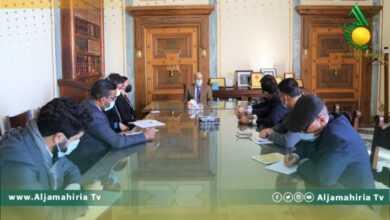 """Photo of """"الكبير"""" يلتقي فريق الخبراء التابع للجنة العقوبات بمجلس الأمن"""