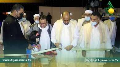 """Photo of وزير الرياضة يفتتح ملعب نادي الباروني  بـ""""جادو"""""""
