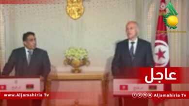 Photo of عاجل  انطلاق مؤتمر صحافي بين رئيس المجلس الرئاسي الليبي والرئيس التونسي