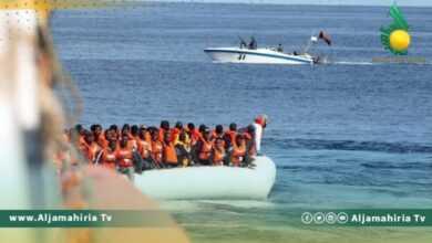 Photo of إنقاذ 308 مهاجرًا غير شرعي قبالة السواحل الليبية