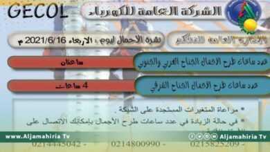 Photo of الكهرباء: طرح الأحمال اليوم 4 ساعات بالشرق وساعتين في الغرب والجنوب
