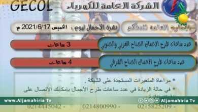 Photo of العامة للكهرباء: طرح الأحمال في الغرب والجنوب 3 ساعات وفي الشرق 4