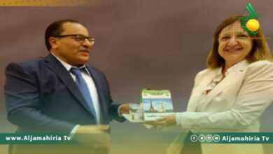 Photo of القيب يبحث مع السفيرة تنفيذ برامج تدريبية لتدريس اللغة الفرنسية في ليبيا