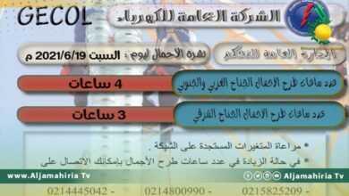 Photo of شركة الكهرباء: 4 ساعات طرح أحمال اليوم السبت
