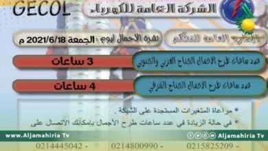 Photo of شركة الكهرباء: 4 ساعات طرح أحمال اليوم الجمعة