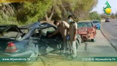 وفاة 3 أشخاص جراء حادث تصادم