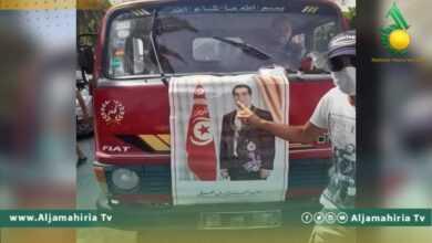 Photo of صور الرئيس التونسي الراحل بن علي تُرفع في نابل