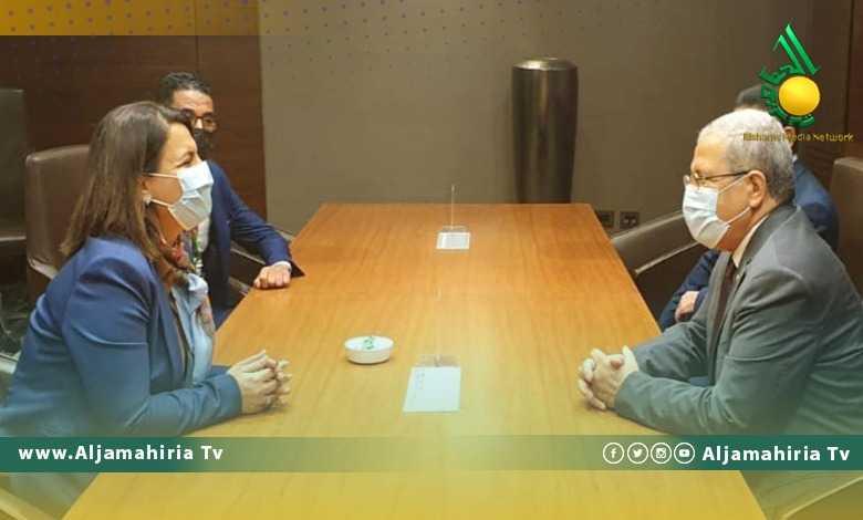 وزير الخارجية التونسي ونجلاء المنقوش