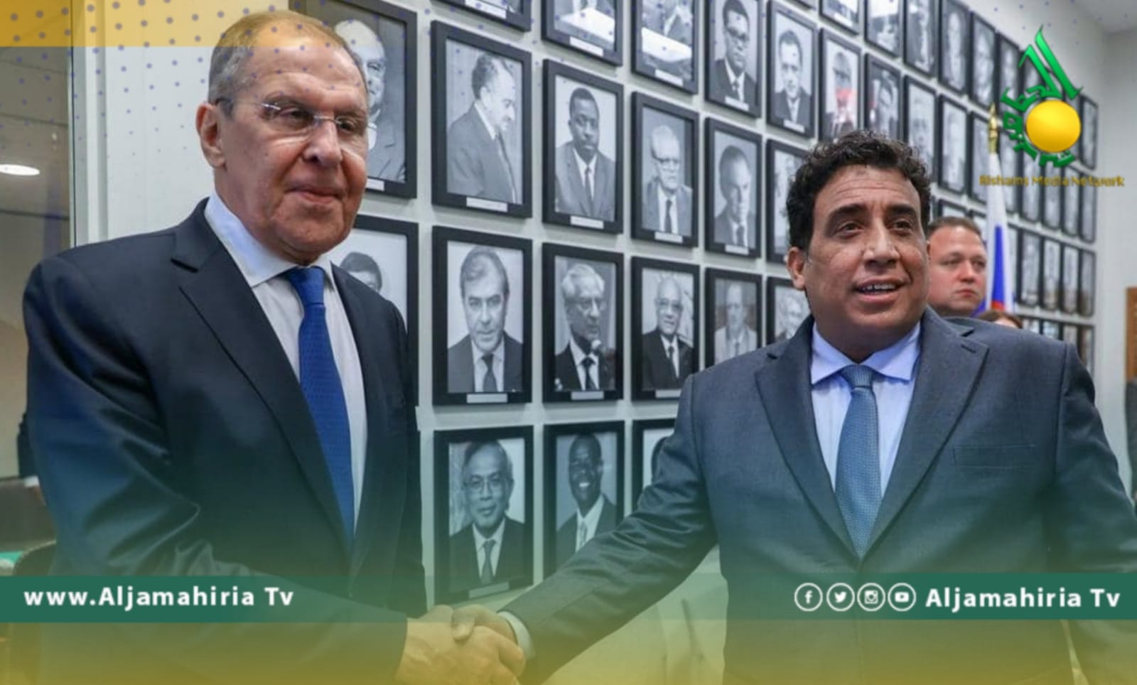 المنفي ووزير الخارجية الروسي لافروف